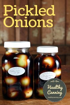 English Pickled Onions - Healthy Canning Pickled Eggs, Pickled Onions, Pickle Onions Recipe, Pickels, Onion Recipes, Stuffed Hot Peppers, Stevia, The Fresh, Food Print