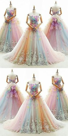 Ball Gown Prom Dresses Colorful Sweep/Brush Train Beautiful Prom Dress/Evening D. Ball Gown Prom Dresses Colorful Sweep/Brush Train Beautiful Prom Dress/Evening D… Ball Gown Prom Dresses Colorful Sweep/Brush Train Beautiful Prom Dress/Evening Dress Ball Gowns Evening, Ball Gowns Prom, Ball Dresses, Evening Dresses, Colorful Prom Dresses, Beautiful Prom Dresses, Pretty Dresses, Formal Dresses, Elegant Dresses