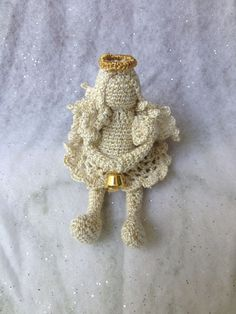 """NEW!  Crochet Christmas Angel from Ukrainian Designer 4"""""""