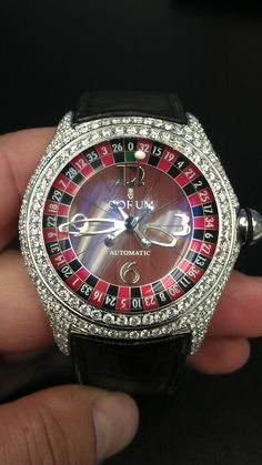 Custom Corum Casino bubble with 5.00ct of vvs colorless diamonds by Yours Truley