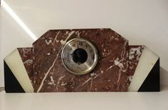 Online veilinghuis Catawiki: Art deco tafelklok - Geheel marmer
