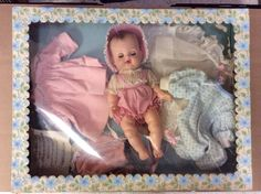 VINTAGE MADAME ALEXANDER VINYL BABY KATHY DOLL WITH CLOTHING & ACCESSORIES