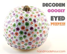 So many great ideas for those of us who might not LOVE carving pumpkins! No-carve pumpkin decorating ideas for inspiration! Halloween Items, Diy Halloween Decorations, Holidays Halloween, Halloween Pumpkins, Halloween Crafts, Halloween Party, Halloween Goodies, Halloween Desserts, Halloween 2016