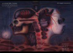 Arte portada CD La Edad del Fierro / The Iron Age or The Gun Age. Banda Bogotana/ Band- OCCISOR; Aerografía + retoque digital. Airbrush + PSD.