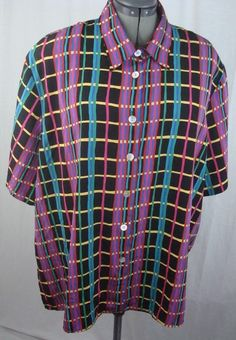 Notations Women's Shirt Plus Size 44/24W Multi-Colored Plaid Short Sleeves #Notations #Shirt #YourChoice
