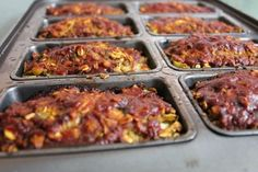 Mini Not-Meatloaf, a veggie variation from In Johnna's Kitchen.  Vegetarian, gluten-free, great to freeze ahead!