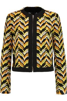 Giambattista ValliCropped jacquard jacket