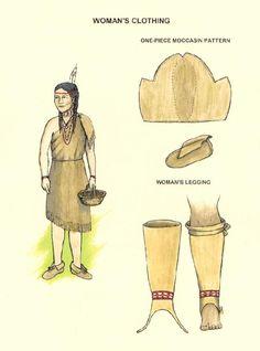 Typical Indian Clothing (Female) Wampanoag