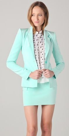 Colored blazer for summer