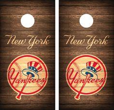 New York Yankees Cornhole Board Decal Wrap by CornholeGraphics