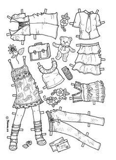 Karen`s Paper Dolls: Susanne 1-6 Paper Doll to Colour. Susanne 1-6…