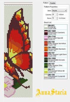 Resultado de imagen para Браслет из бисера бабочки