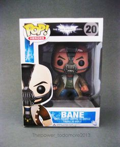 Funko Pop Heroes BANE The Dark Knight Rises #20 Exclusive Limited Edition RARE!