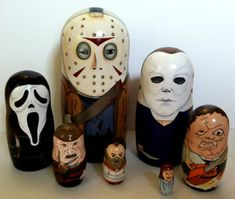 Custom horror villain set of nesting dolls