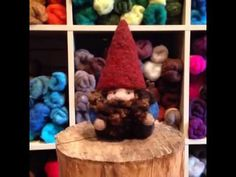 How To Needle Felt a Gnome: Part 1 by Sarafina Fiber Art - YouTube