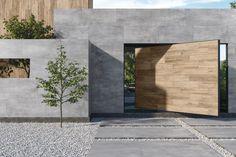 Cemento - Diseños - Hazlo con Cerámicos Garage Doors, Outdoor Decor, Room, Furniture, Home Decor, Collection, Walls, Facades, Cement