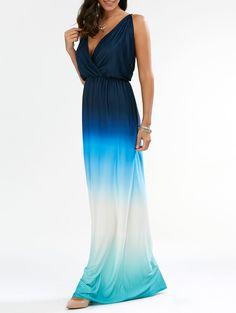 SHARE & Get it FREE | Sleeveless Plunge Backless Ombre Maxi DressFor Fashion Lovers only:80,000+ Items • New Arrivals Daily • Affordable Casual to Chic for Every Occasion Join Sammydress: Get YOUR $50 NOW!