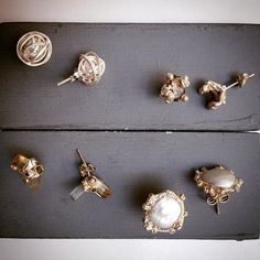 A selection of studs in silver  http://ruthtomlinson.com