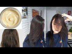 INCRÍVEL hidratação caseira que reduz o volume e alisa os cabelos na primeira aplicação! - YouTube