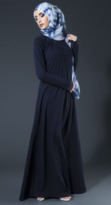 Neat Pleast Abaya - Navy #AabCollection #WhatsNew #NewArrivals #Hijab #Abaya #Style #Fashion