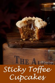 Sticky Toffee Pudding Cupcakes are as soft, squidgy & irresistible as the classic pudding they are mimicking. Sticky Toffee Cupcakes, Sticky Toffee Pudding Cake, Toffee Cake Recipe, Caramel Cupcakes, Pudding Cupcakes, Mini Cakes, Cupcake Cakes, Lemon Cupcakes, Cake Fondant