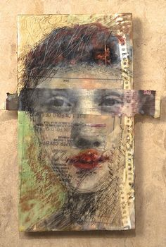 Lisa Jones Moore #figurative #portrait #art #collage I like the technique