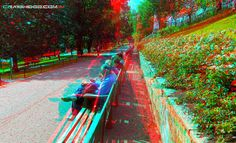Princes st. gardens (anaglyph view with red/blue glasses)