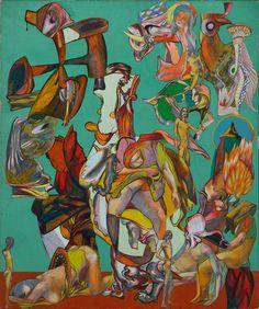 Paula Rego, Paris,1976-Collage on canvas,107 x 89 cm