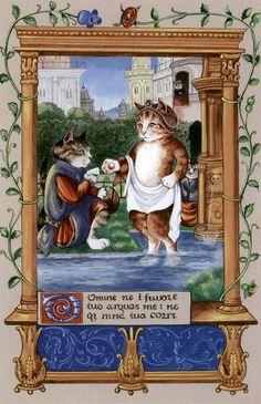 """David Bathsheba (Cats Medieval)"" par Susan Herbert"