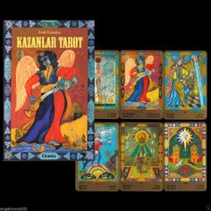 NEU! 1996 Original KAZANLAR TAROT SET 78 Tarotkarten mit Buch Sammlerstück!