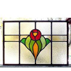 Sharing is caring!  G14084 - Antique Arts and Crafts Stained Glass Window #https://www.pinterest.com/munlimited/