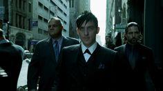 "Oswald Cobblepot, The Penguin - wallpaper 1366x768 (Robin Lord Taylor, ""Gotham"" series screenshot)."