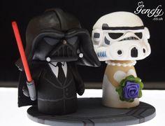 Os topos de bolo de casamento super nerds criados pela Genefy Playground