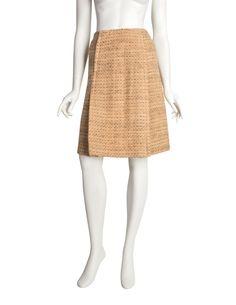 Vintage Italian Designer Wool Skirt with Geometric Print