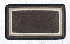"""ITC-08 Cocoa/Black/Natural In The City Oblong Rug 27""""""""x45"""""""""""