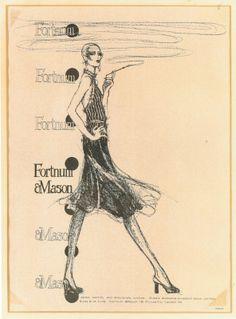 Vintage Fashion Illustration by David Wolfe
