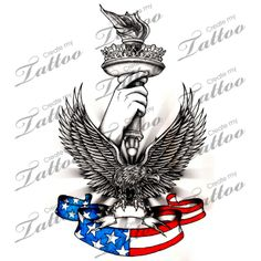Marketplace Tattoo Made with Pride in the USA 1 #2412 | CreateMyTattoo.com