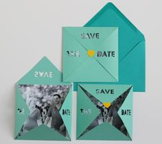 Save The Date invites by Michelle Edgemont. Make It Now with the Cricut Explore machine in Cricut Design Space.