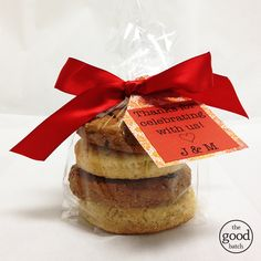 Thank You Favors, Mix & Match Cookies #partyfavors #thegoodbatch