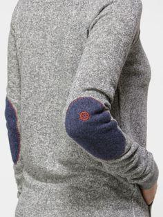 Elbow Patcher Crew Neck Sweatshirt-Quiksilver Women's