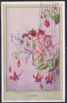 Rene Cloke - English - vintage postcard 1949