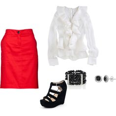 Cute Skirt outfit.