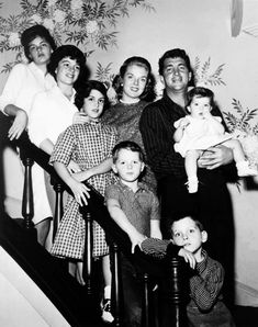Dean Martin and his family.