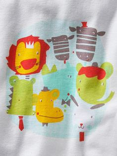 Lot de 3 #pyjamas #coton assortis bébé motifs jungle - Collection automne hiver 2014 - www.vertbaudet.fr