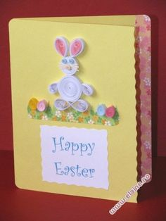 quilled easter egg card - Google Search