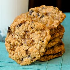 The Best Chewy Oatmeal Cookies a real old fashioned recipe that has crispy edges & a softer chewier center. The secret is to under bake them just a little.