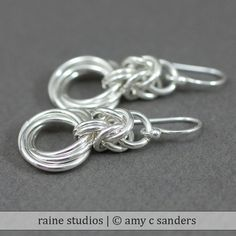 Byzantine Love Knot Chainmaille Earrings