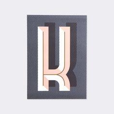 Letter K Bau Deco Alphabet Letter Poster