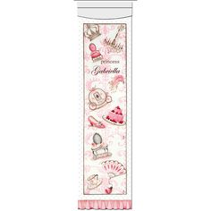 La Belle Princesse Growth Chart in Classique Pink: I look forward to watching my little girl grow and this is the perfect thing to keep track of her progress.  #PoshTotsNursery
