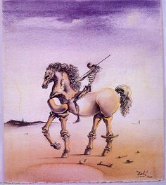 """Cavallo Metafisco"" von Salvador Dali (1904-1989, Spain)"